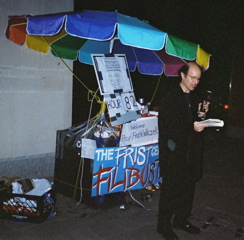 FilbusterFrank: Frank Wilczek at Princeton University's pro-filibuster filibuster, April 29, 2005