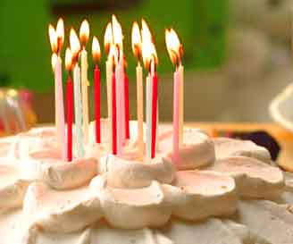 BirthdayCandles: Birthday cake with lit candles