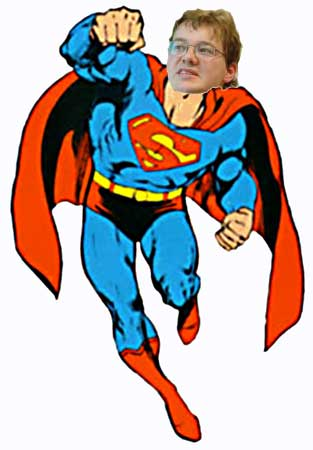 Markserman: Body by Superman, head of Kevin Marks, photo of Kevin by Dan Bricklin. Person to blame: Betsy Devine.