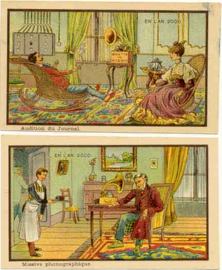 "Here we see two French Victorian visions of ""l'An 2000″?with both news and ..."