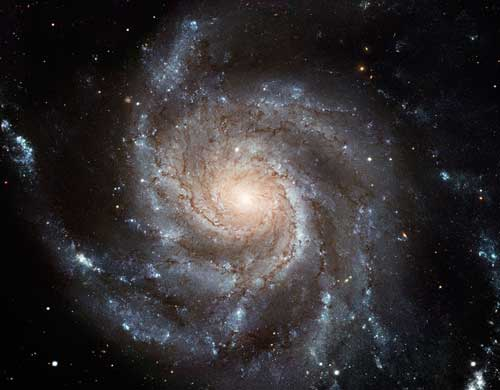galaxyM101: Messier 101 spiral galaxy from Hubble telescope