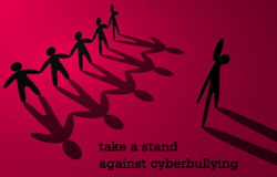 Cartoon says Stop cyberbullying